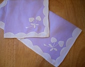 Vintage, Lavender Handkerchief - Set of 2