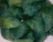 Falkland Wool Roving -- Teal Splendor 3.2 oz.