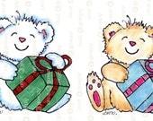 Instant Download DIGITAL STAMP CuTE TeDDY BeAR Birthday bear  cHRISTMASanimal Digi Stamp Printable Birthday Cardmaking