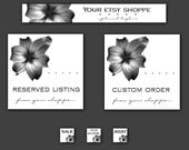 Etsy Graphics Set Understated Floral Banner, Avatars, Reserved and Custom Listing Graphic
