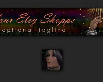 Gypsy Magic Premade Etsy Store Banner and Avatar Set