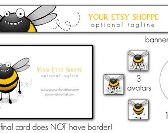 Hey, How are Ya Bee ULTIMATE Starter Package, Banner, Business Card, 3 Avatars, Sticker Design