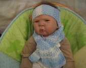 PDF pattern for Baby Boy's Scarf & Headband with Ear covers.
