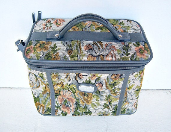 Vintage Tapestry Tote Jordache Make Up Train By