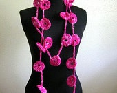 Rings Lariat Scarf Crochet Pattern PDF - permission to sell what you make on all my patterns