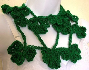 Lucky Clover Lariat Scarf Crochet Pattern PDF - permission to sell what you make