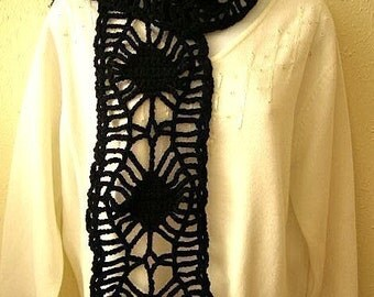 Spider Web Scarf  Crochet Pattern PDF -  permission to sell what you make on all my patterns