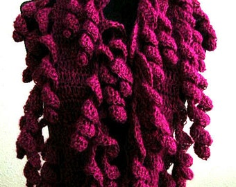 Ringlets Scarf Crochet Pattern SUPER EASY - permission to sell what you make