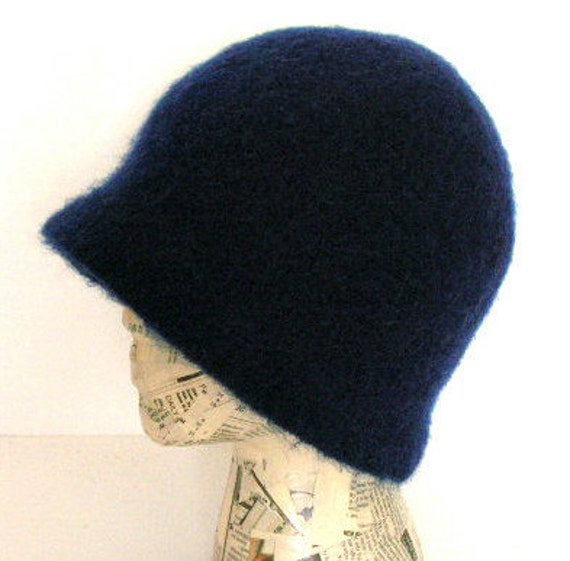 Felted Cloche Hat Crochet Pattern PDF permission to sell