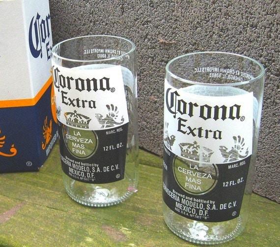 Corona Beer Bottle Tumblers - 6 pack and carton