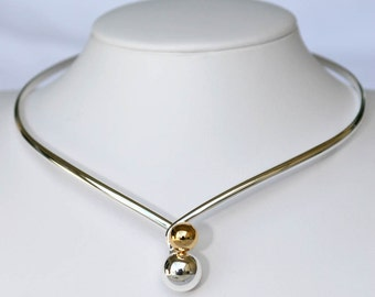 Silver and Gold Plated Choker