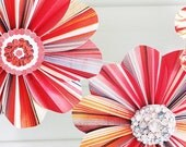 garland paper flowers orange grey fiesta party decor