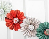 paper flowers, floral garland, party decor, home wall decor, photo shoot, flower mobile
