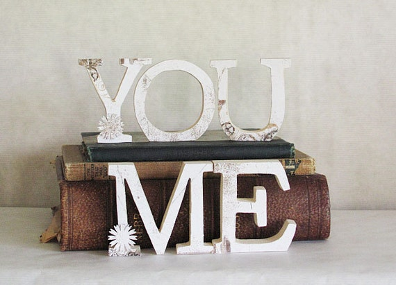 wood letters me and you