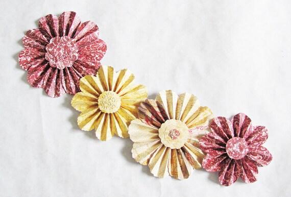 paper flowers garland