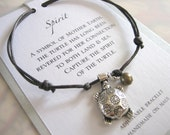Spirit Adjustable Cord Bracelet - Silver