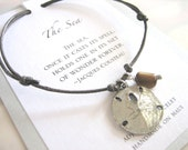 The Sea Adjustable Cord Bracelet - Silver