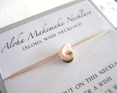 Aloha Wish Necklace - Pink Shell