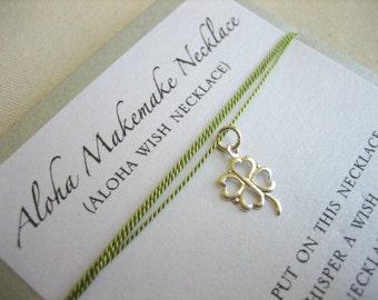 Aloha Wish Necklace - Lucky Shamrock