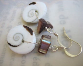 Swirl Shell Earrings