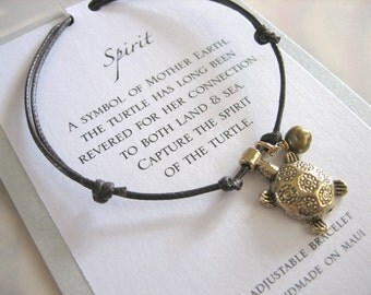 Spirit Adjustable Cord Bracelet - Gold