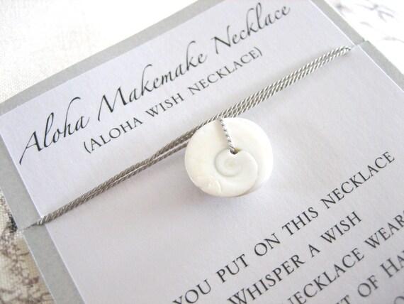 Aloha Wish Necklace - Swirl Shell