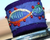 Embroidery by Hand: DNA Art hand embroidered ring