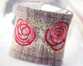 Fabric Textile Hand Embroidery Plaid Flowers ProjectEmbrace Proceeds American Cancer Society