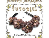 Beaded Flower Necklace DIY  Tutorial, PDF