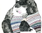 Knitted Bear 8 x 11 Print
