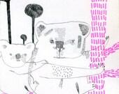 Original Hand Drawn A6 Greeting Cards-13\/50