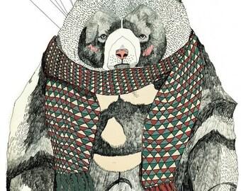 Woolly Bear 8 x 11 Print