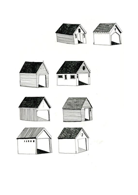 Beach Hut 8 x 11 Print