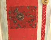 Red and white altered journal/book/memory book