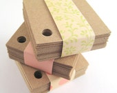 Kraft Paper Tags (150) 2-Inch Square Tags - Corner Holes