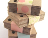 Kraft Paper Tags (200) 2-Inch Square Tags - Corner Holes