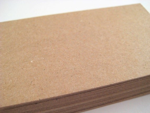 100 Kraft Paper Blank Business Cards DIY by owlbot on Etsy