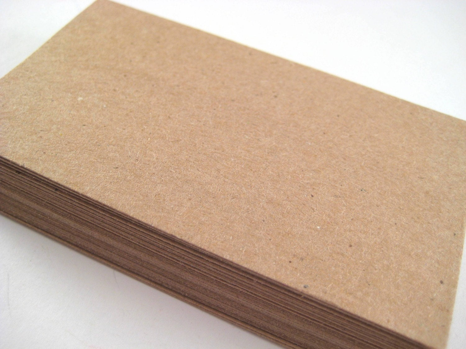 50 Kraft Paper Blank Business Cards DIY by owlbot on Etsy