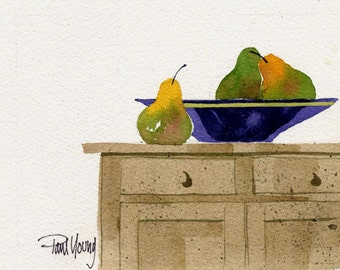 Blue Bowl-Print from an original watercolor painting