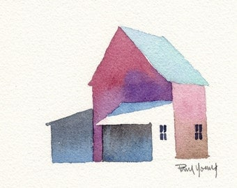 Barn 2-Print from an original watercolor painting