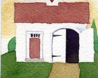 ACEO Art Card Print-Carriage House