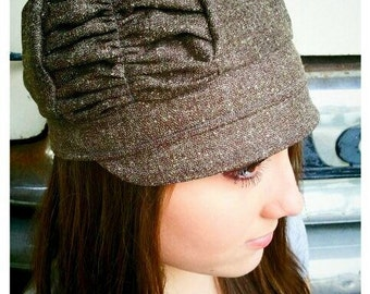 Totally Beachin Brown Ruched Hat