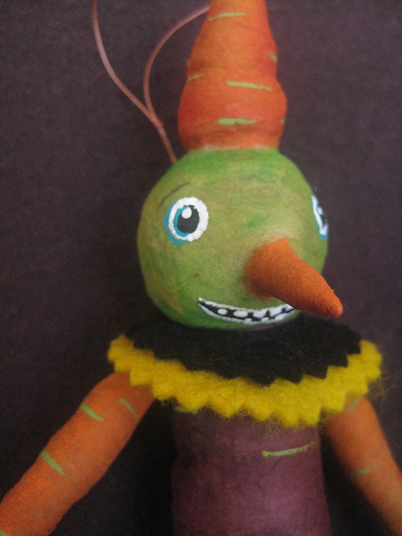Veggie Man  ornament by Maria Pahls spun cotton