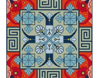 Blue Delight cross stitch pattern PDF