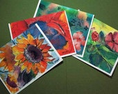 29 Gifts Note Card SET of FOUR  Cards- your choice