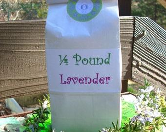 Dried Lavender Flowers - Dried 1/4 lb. Loose Organic Farm Lavender, Culinary Lavender, Lavender for Crafts