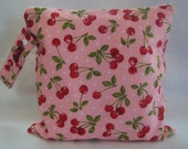 Wet Bag-Large Waterproof Wet Bag For Cloth Pads- Diaper Bag- So Very Cherry
