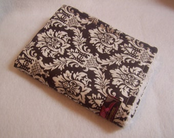 Burp Cloths-Brown And White Damask - Set of 2