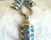 Cool Blue necklace and earring set