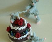 Instant Download - PDF Crochet Pattern- Naughty Little MIce
